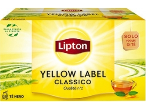 Lipton yellow  label tea squeezable  25 filtri