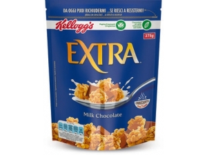 Kellogg's extra   cereali  • cioccolato e nocciola • frutta • classico • cioccolato al latte gr 375