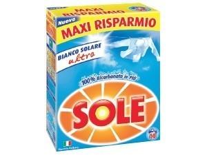 Sole  detersivo in polvere  per lavatrice fustone 50 misurini