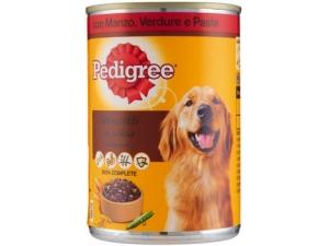 Pedigree bocconi per cane • manzo verdure pasta • pollo e verdure in lattina - gr 400
