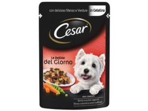 Cesar  le delizie del giorno alimento completo per cane vari gusti gr 100