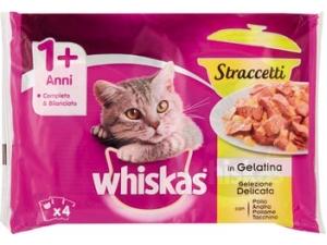 Whiskas straccetti per gatto vari tipi gr 85 x 4