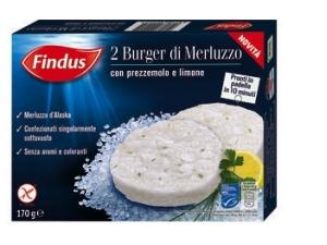 Findus  burger • salmone • merluzzo gr 170