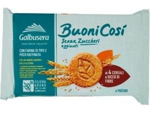 Galbusera  buoni così frollini senza zucchero  • 4 cereali gr 300 • classici gr 330  • con uova fresche e latte intero gr 300