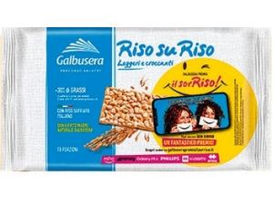 Galbusera  riso su riso  cracker con riso soffiato gr 380
