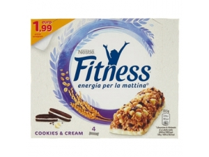 Nestlè fitness 4 barrette gr 94 • crunchy caramel • cookies&cream