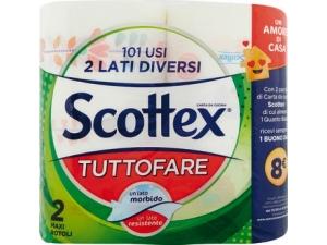 Scottex tuttofare   carta da cucina  2 maxi rotoli