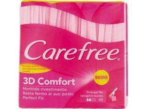 Carefree salvaslip • maxi pz 28 + 8 gratis • ripiegato pz 40 + 6 gratis • disteso pz 40 + 4 gratis