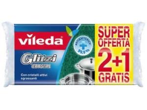 Vileda  glitzi crystal  2 spugne + 1 gratis