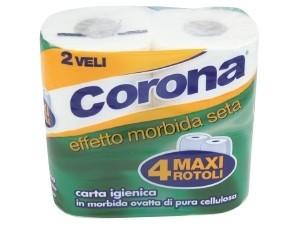 Corona  carta igienica  2 veli 4 maxi rotoli