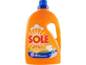 Sole detersivo liquido per lavatrice • potere smacchiante • proteggi colore • bianco splendente 40 lavaggi