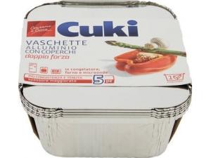 Cuki   vaschette in alluminio • CALDO/GELO CON COPERCHIO - R31 - R75 - R90 - R98 • R62 2 PORZIONI con COPERCHIO