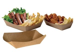 Leone street food vaschetta fritti cm 9,5 X 9,5 x 22,5 pz 100