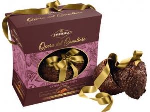 Condorelli uovo opera del cavaliere in astuccio - gr 330  • bianco e pistacchio • mandorla e cioccolato fondente • nocciola e cioccolato al latte