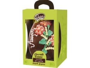 WALCOR  UOVO di cioccolato DECORATO   • LATTE • extra FONDENTE GR 800