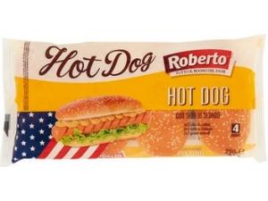 Roberto hot dog con sesamo 4 panini gr 250