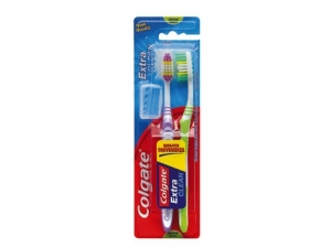 Colgate   spazzolino  extra clean - pz 2