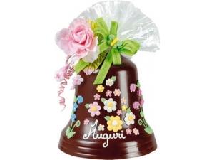 DOLCERIE VENEZIANE  CAMPANA di cioccolato decorata • latte • fondente GR 500