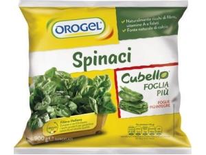 Orogel  spinaci cubello foglia più gr 900