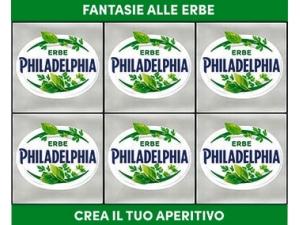 Philadelphia FANTASIE • erbe • salmone  gr 25 x 6