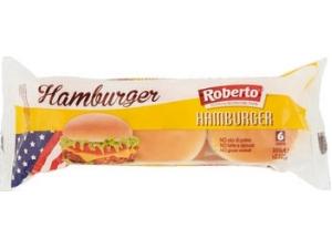 Roberto  hamburger • MAXI con sesamo 4 panini • senza sesamo 6 panini gr 300