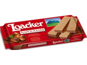 Loacker wafer • cacao • nocciola • vaniglia • latte • fondente • cacao&milk • DOUBLE CHOC gr 175