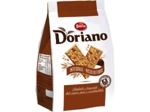 Doria doriano crackers • salati • senza granelli di sale in superficie • integrali gr 700
