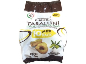 La spiga taralli all'olio d'oliva 10 mini pack  gr 400
