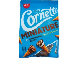 Cornetto miniature 12 coni  classico e cioccolato gr 228