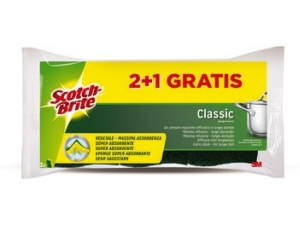 Scotch-brite spugna vegetale pz 2+1