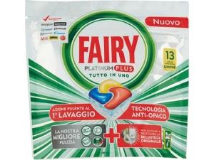 FAIRY  lavastoviglie - Platinum • classico • limone 16 caps - platinum plus  • limone 13 caps