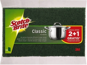 Scotch-brite strofinetto verde pz 2 + 1 gratis