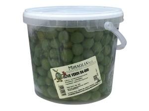 "Miraglia  olive verdi tonde ""000"" super colossal kg 3,5"