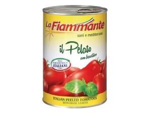 La fiammante  pomodori pelati con basilico gr 400