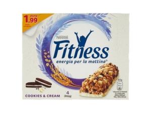 Nestlè fitness 4 barrette • crunchy caramel • cookies&cream • nesquik delice  gr 92 gr 94