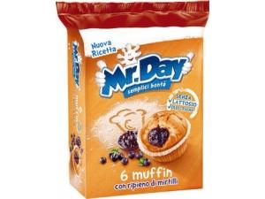 Mr. day  • 6 muffin - cacao - con gocce  di cioccolato  • ciambelle   - classica gr 304  - cioccolato gr 288
