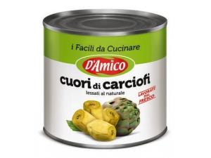 D'AMICO  CUORI DI CARCIOFI  al naturale kg 2,55