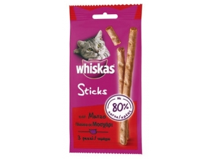 Whiskas sticks per gatti • pollo • manzo gr 18