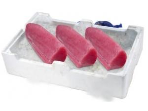 Filone di tonno pescato decongelato sottovuoto fao  34/51/77 al kg