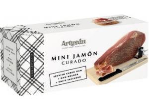 Alejandro miguel prosciutto mini serrano  kg 1 con morsa + coltello in confezione regalo