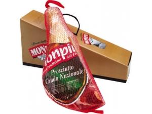 Monpiù prosciutto nazionale metà stagionato 16 mesi in confezione regalo al kg