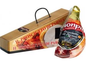 Monpiù prosciutto di Parma metà stagionato 18 mesi  in confezione regalo al kg