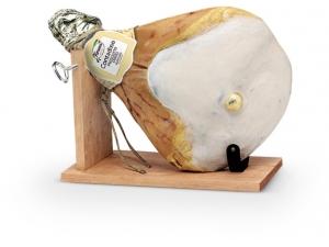 Fiorucci  confezione regalo: prosciutto crudo con osso 6+ con morsa
