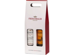 Frescobaldi astuccio 2 bottiglie: - remole rosso cl 75 - morellino di scanzano cl 75