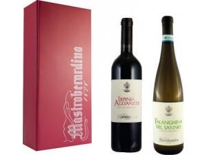 Mastroberardino  confezione litografata fashion 2 bottiglie: - falanghina del sannio doc cl 75  - irpinia aglianico doc cl 75