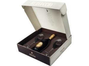 Berlucchi astuccio regalo: - brut vintage cl 75 - 2 flutes