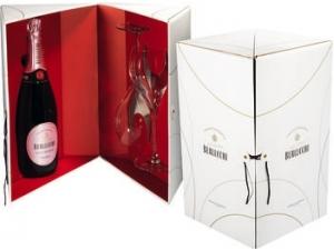 Berlucchi confezione scrigno: - cuvèe imperiale max rosè cl 75 - 2 bicchieri