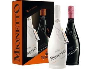 Mionetto  astuccio 2 bottiglie: - mo sergio white cl 75  - mo prosecco doc cl 75