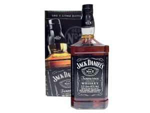 Jack daniel's whisky black in astuccio lt 3 grande formato