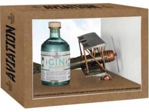 Antica grapperia mazzetti  confezione aviation gin london  cl 50
